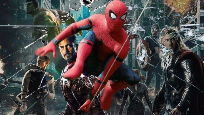 cropped images 00Steeve Spider Man Smashing Past The Avengers